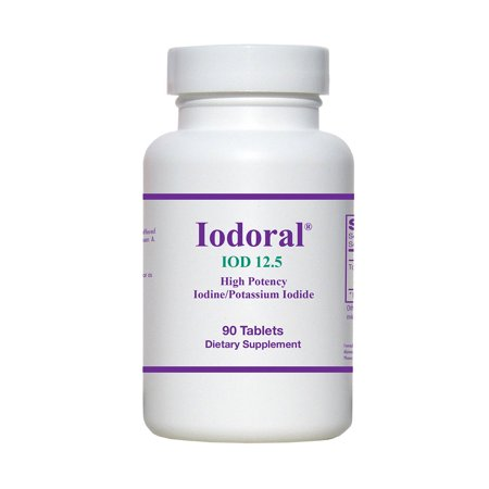 Iodoral (High Potency Iodine/Potassium Iodide Supplement) 12.5 mg 90 (Use Of Potassium Iodide In Iodine Solution)
