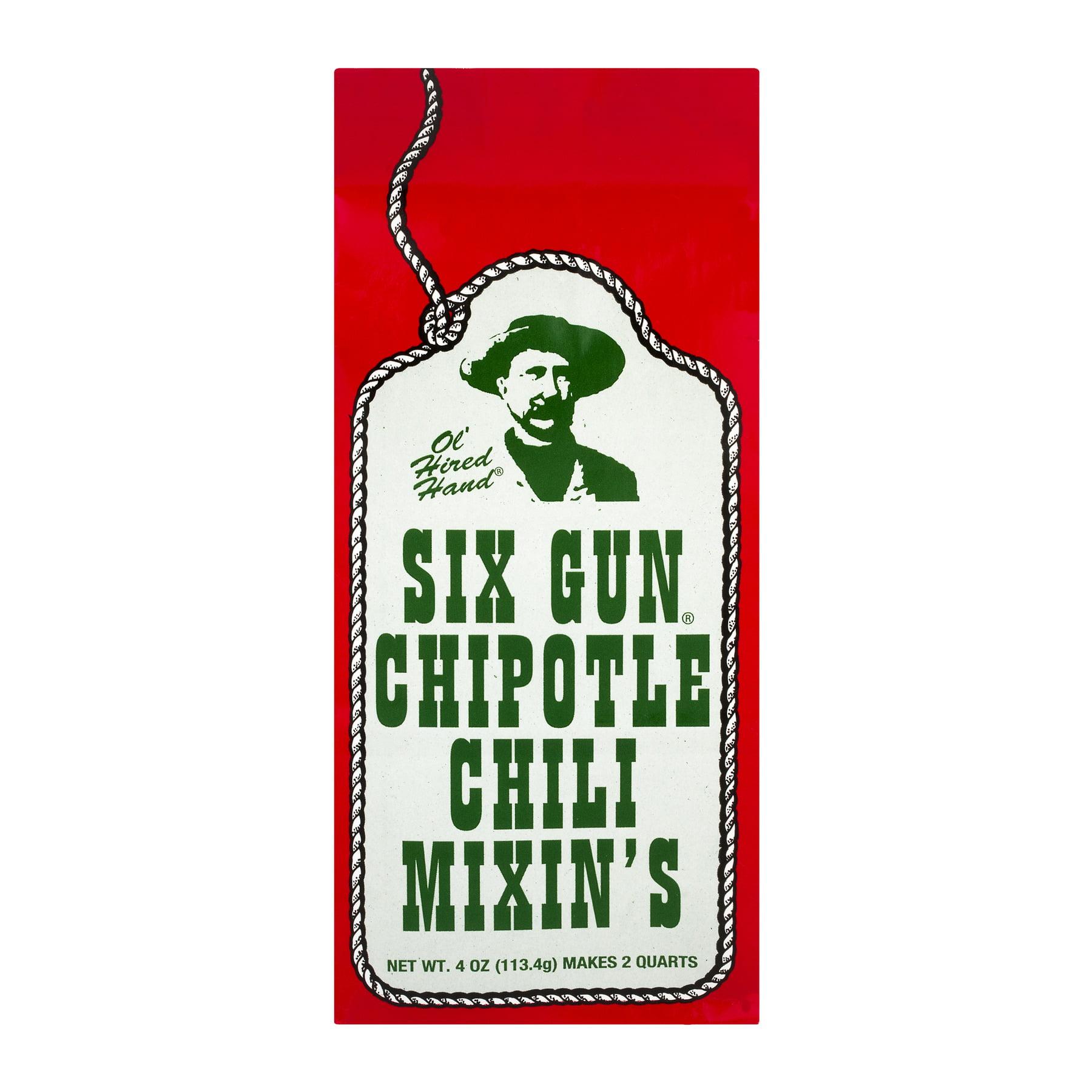 Ol' Hired Hand Chili Mixin's Six Gun Chipotle, 4.0 OZ