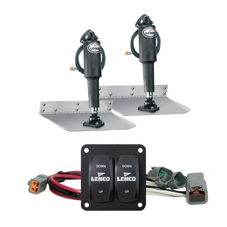 "Lenco 09x12"" Complete Standard Mount Trim Tab Kit, Switch Included - 15101-104 FO-3883"