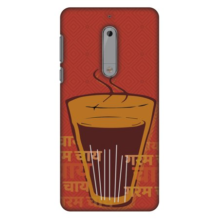 Nokia 5 Case - Cutting Chai For The Soul, Hard Plastic Back Cover. Slim Profile Cute Printed Designer Snap on Case with Screen Cleaning (Best Cutting Chai In Mumbai)