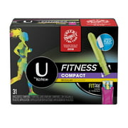 U by Kotex Fitness Tampons with FITPAK, Regular Absorbency, Unscented, 31 Ct