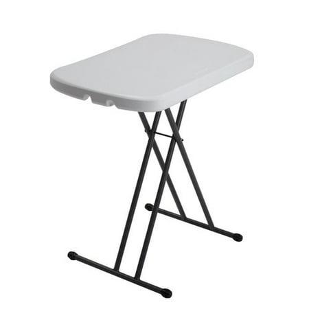 Lifetime 26 Quot Personal Folding Table White Granite 80251