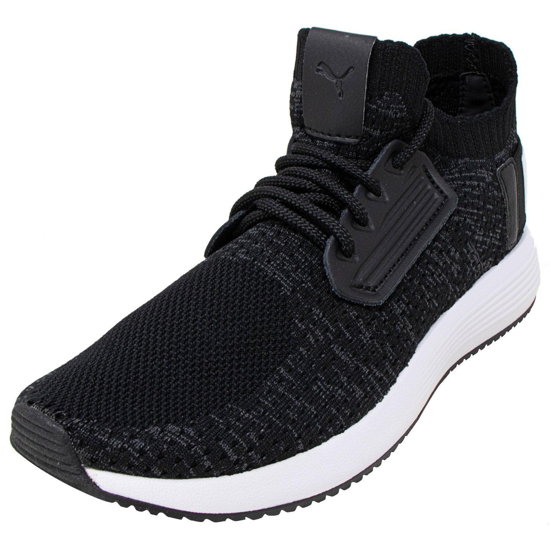 PUMA Puma Women's Uprise Knit Black Iron Gate White Ankle High Sneaker 7M