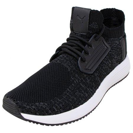 Puma Women's Uprise Knit Black / Iron Gate White Ankle-High Fashion Sneaker - 9M ()