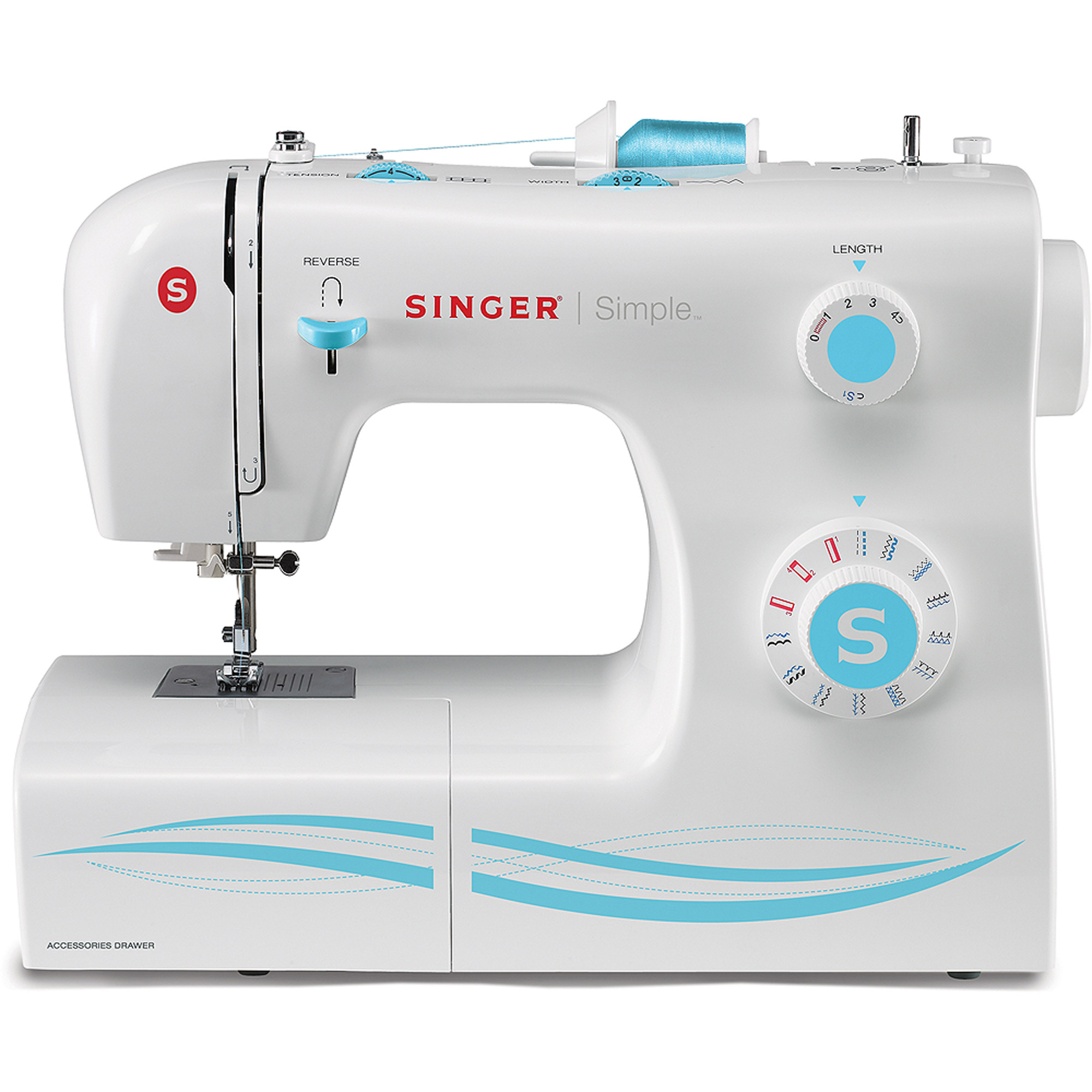Singer 2263 Simple Factory Serviced 23-Stitch Sewing Machine with Accessories