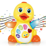 CifToys Musical Duck Toys for 1 2 3 Year Old Gifts with Lights and Adjustable Sound