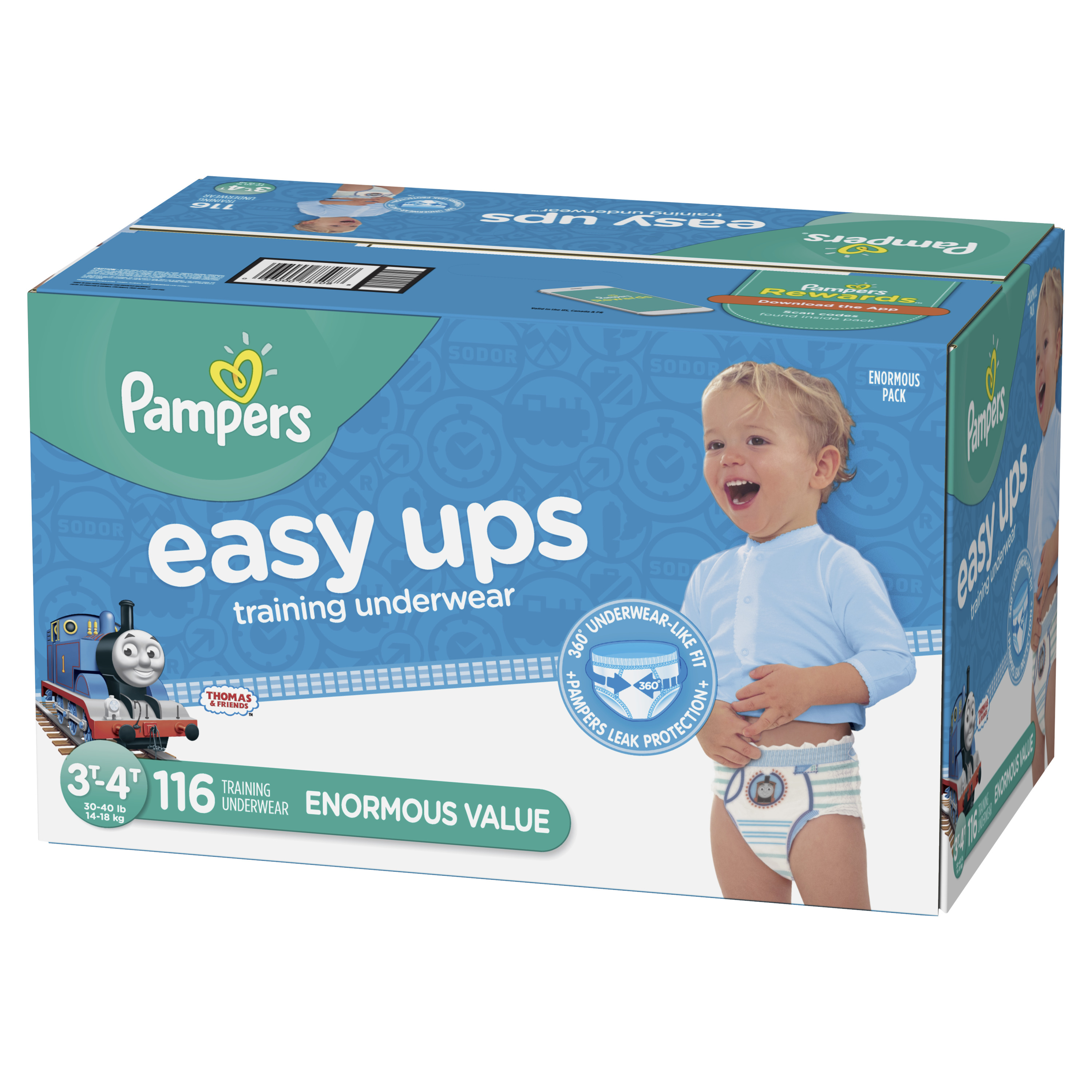 Pampers Easy Ups Training Underwear Boys (Choose Size and Count)