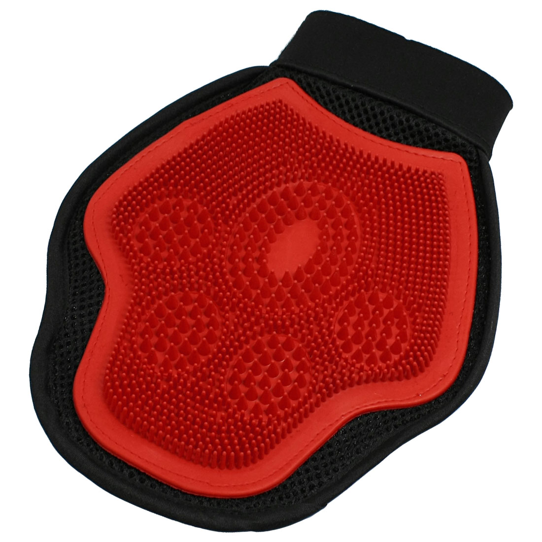 Pet Dog Puppy Massage Bathing Grooming Glove Brush Red Black