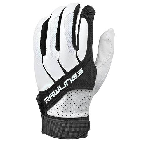 Rawlings BGP1150T-B-89 Adult Batting Gloves in Black, Size Medium