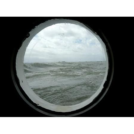 LAMINATED POSTER Sailing Vessel Porthole Ship Water Sea Poster Print 24 x 36](Ship Porthole)