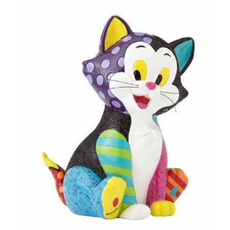 romero britto disney figaro from pinocchio smiling cat pop art