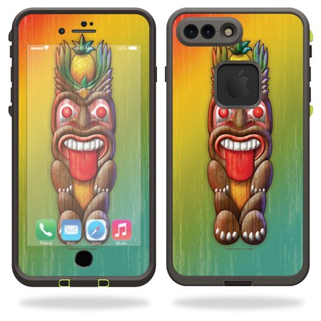 Skin For Lifeproof iPhone 7 Plus Fre Case – Tiki Man | MightySkins Protective, Durable, and Unique Vinyl Decal wrap cover | Easy To Apply, Remove, and Change Styles | Made in the USA - Tiki Man