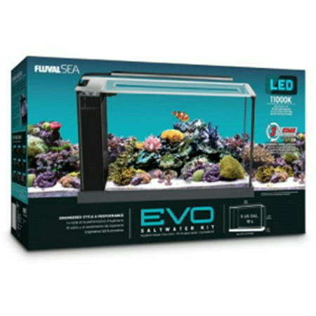 Fluval 5-Gallon EVO V Saltwater Aquarium Kit (Best Saltwater Fish Tanks)