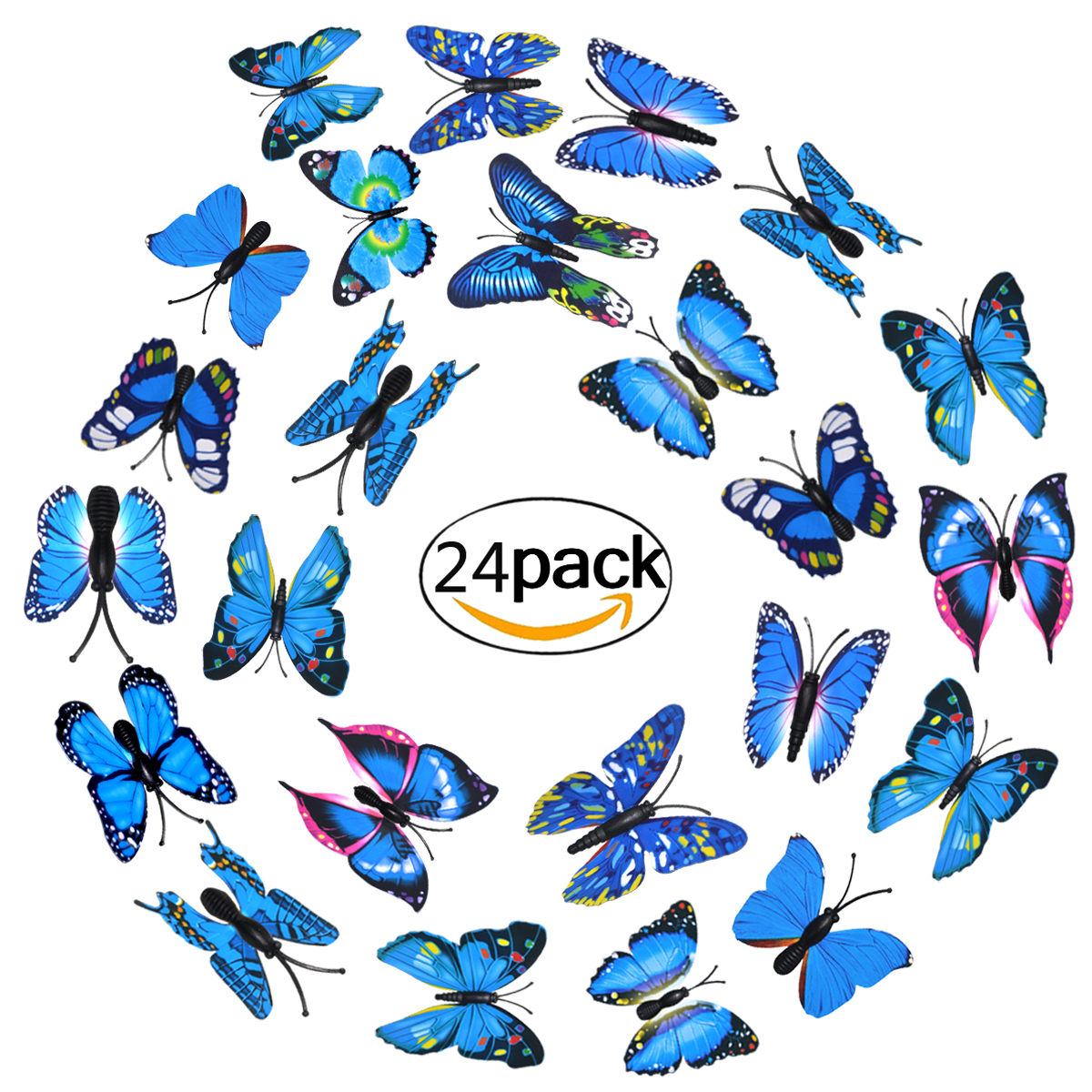 Fridge Magnets, Outgeek 24 Pcs Lovely 3D Butterfly Whiteboard Refrigerator Magnets Wall Stickers for Home Art Decor