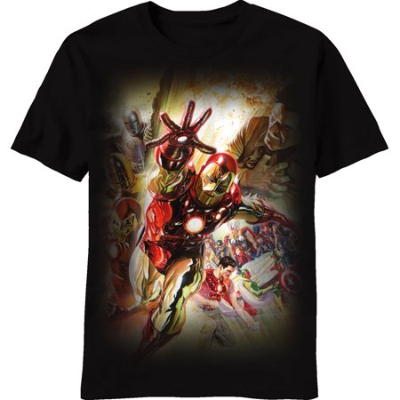 Invincible Iron Man Suits of Stark Adult T-Shirt - Male Adult Store