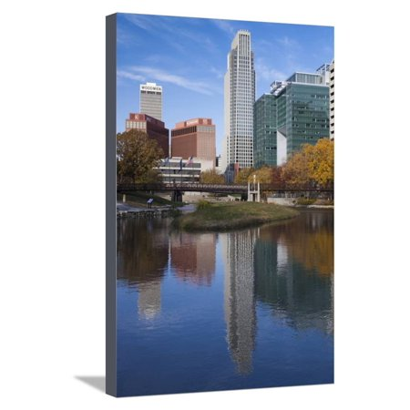Gene Leahy Mall Skyline, Omaha, Nebraska, USA Stretched Canvas Print Wall Art By Walter (Malls In Omaha Nebraska)