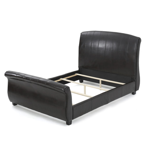 Darby Home Co Greenside Leather Upholstered Sleigh Bed
