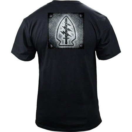 - US Army Special Forces Patch Diamond Plate T-Shirt