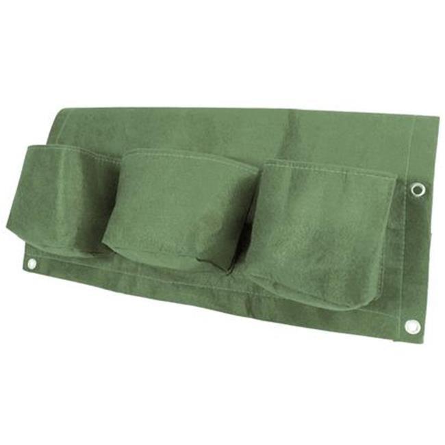 Bloem OTR3-42 Bloembagz Deck Rail 6-Pocket Hanging Planter Bag, Living Green - image 1 of 1