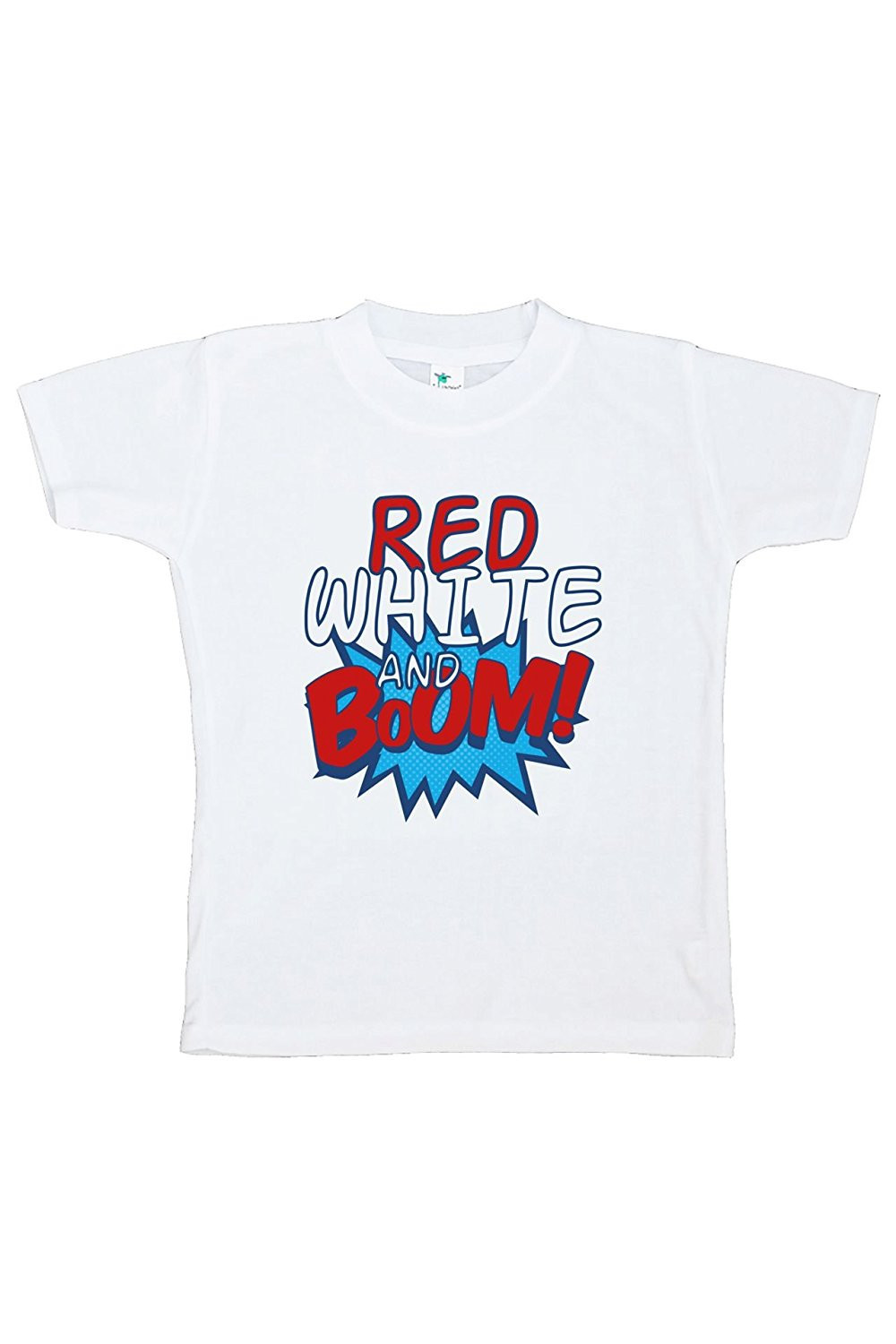 Custom Party Shop Kids Red White & Boom 4th of July T-shirt - X-Large