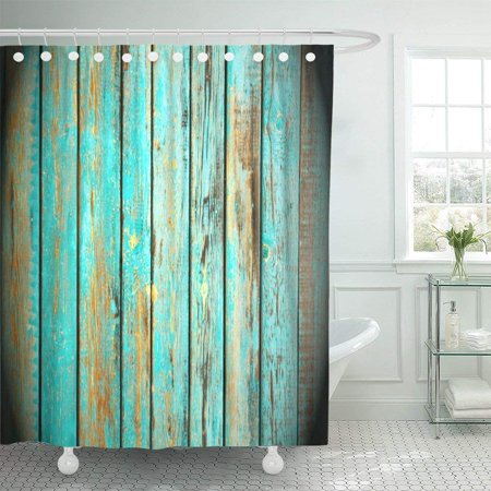 RYLABLUE Brown Abstract Old Grunge Wood Panels Used As Aging Blank Board Building Close Dark Polyester Shower Curtain Bathroom Decor 66x72 inches - image 1 of 3