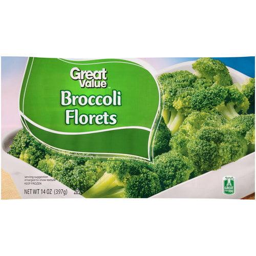 Great Value Broccoli Florets, 14 oz