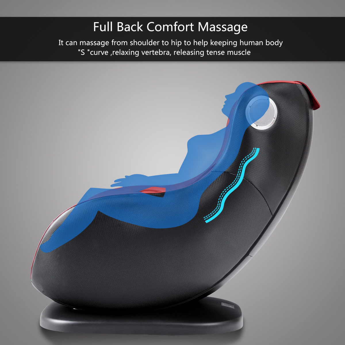 Luxury Massage Chair Heated W/ Bluetooth Speaker &USB Charger - image 1 of 10
