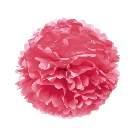 Tissue Paper Pom Pom (20-Inch, Tulip Pink) - For Baby Showers, Nurseries, and Parties - Hanging Paper Flower Decorations
