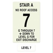 INTERSIGN NFPA-PVC1812(AGN7) NFPASgn,RoofAccssN,FlrLvl7,FlrsSrvdGto 7 G0263685