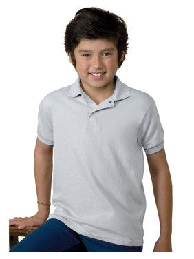 Hanes Boys School Uniform Lightweight Comfortblend EcoSmart Jersey Polo (Little Boys & Big Boys)