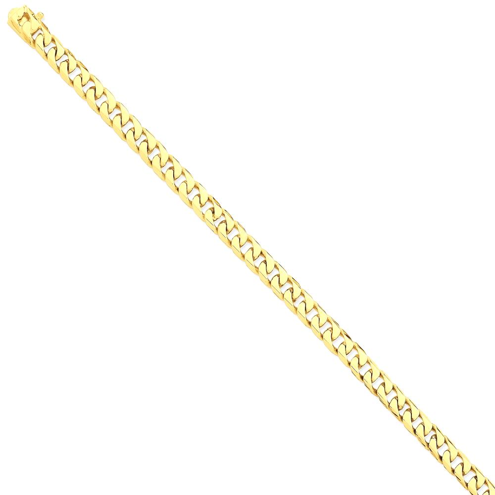 ICE CARATS 14kt Yellow Gold 6.8mm Hand Flat Beveled Curb Link Bracelet 8 Inch Chain H Fine Jewelry Ideal Gifts For Women... by IceCarats Designer Jewelry Gift USA