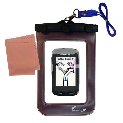Gomadic Clean and Dry Waterproof Protective Case Suitablefor the Garmin Edge 800 to use Underwater