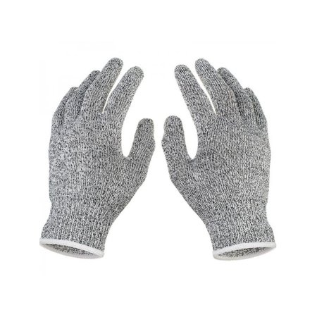 Cut Resistant Gloves With Silicone Grip Dots Food Grade, level 5 Safety  Protection Kitchen Cuts For Meat cutting, Fish Fillet Processing and Slicing