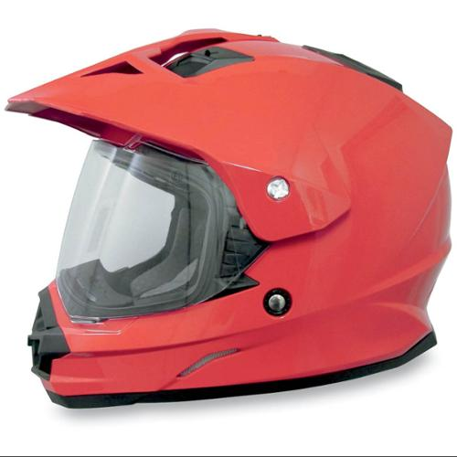 AFX FX-39DS Dual Sport Solid Full-face Helmet Red