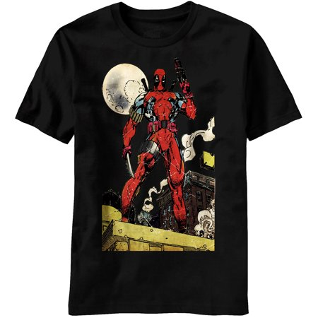 Marvel Comics Deadpool Deader's Knell Rooftop T-Shirt (Lady Deadpool Comics)