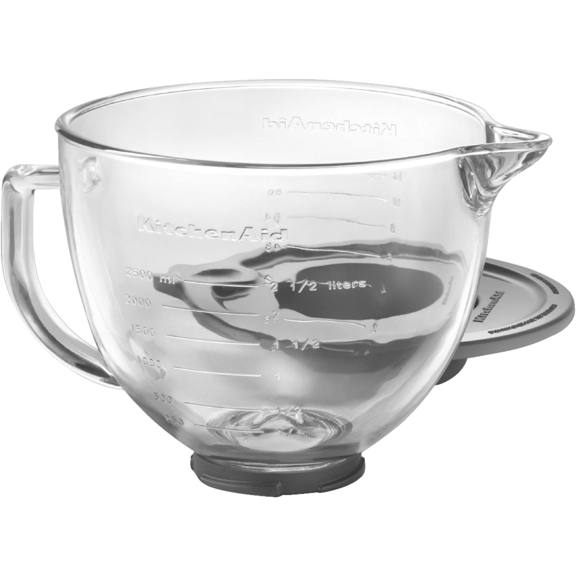 KitchenAid® 5-Qt. Tilt-Head Glass Bowl with Measurement Markings & Lid (K5GB)