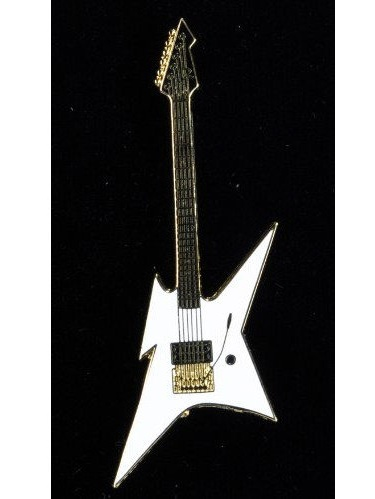Harmony Jewelry BC Rich Ironbird Electric Guitar in Gold and White by Harmony Jewelry