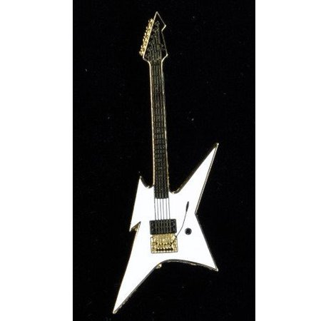 Harmony Jewelry BC Rich Ironbird Electric Guitar in Gold and White Bc Rich Warlock Electric Guitar