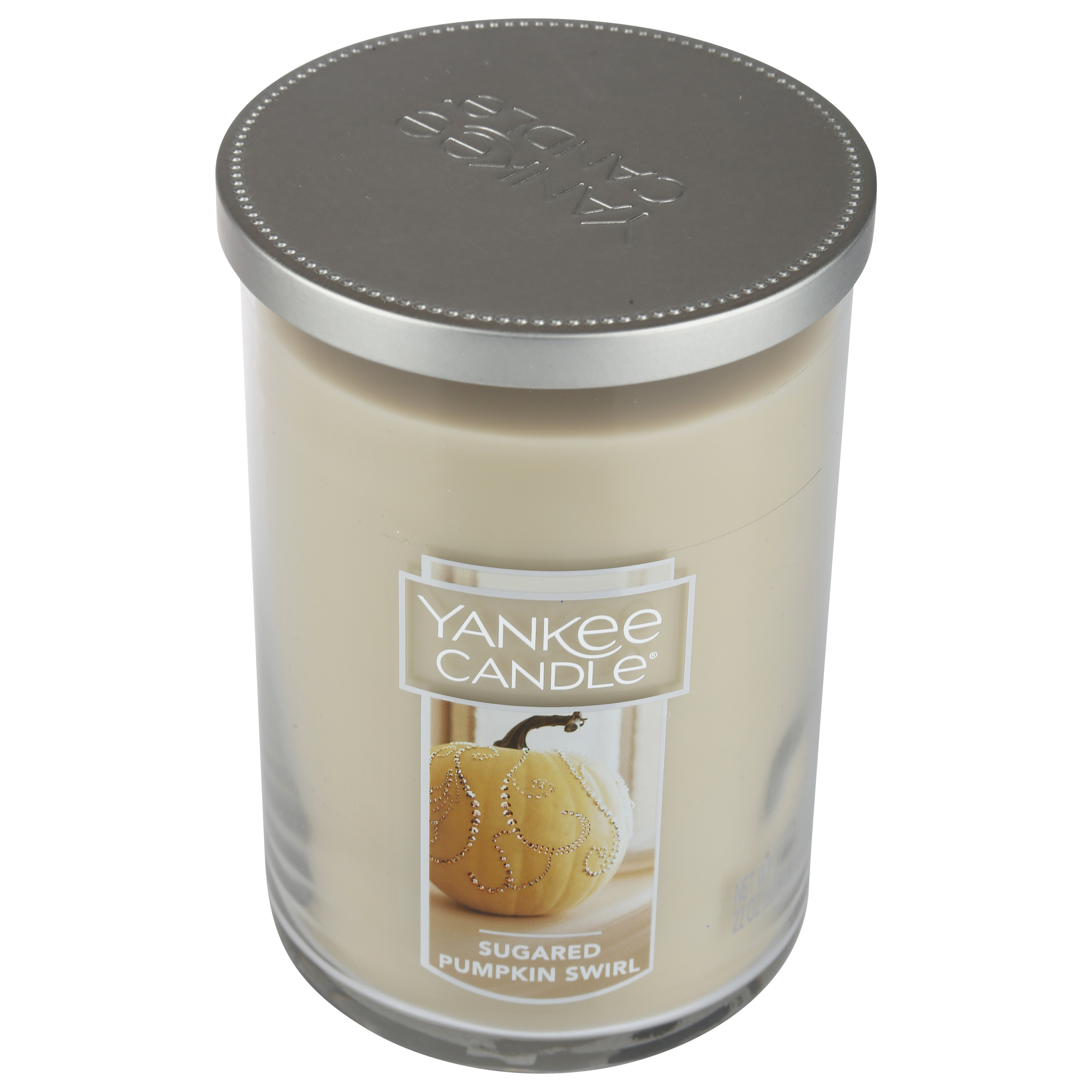 1 Yankee Candle SUGARED PUMPKIN SWIRL Jar Candle 22 oz