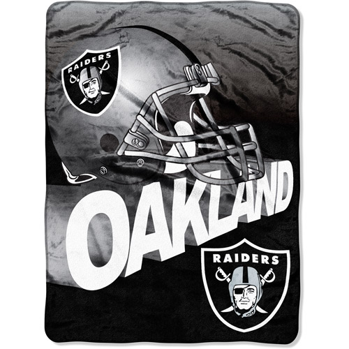 "NFL Bevel 60"" x 80"" Micro-Raschel Throw, Raiders"