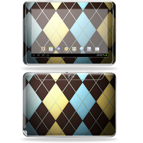 "Mightyskins Protective Skin Decal Cover for Samsung Galaxy Note 10.1"" inch Tablet wrap sticker skins Argyle"