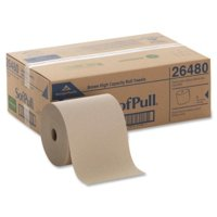 "SofPull Hardwound Roll Paper Towel - 1 Ply - 6 Per Carton - 6 / Carton - 7.87"" x 1000 ft - 7.80"" Roll Diameter - Brown - Paper"