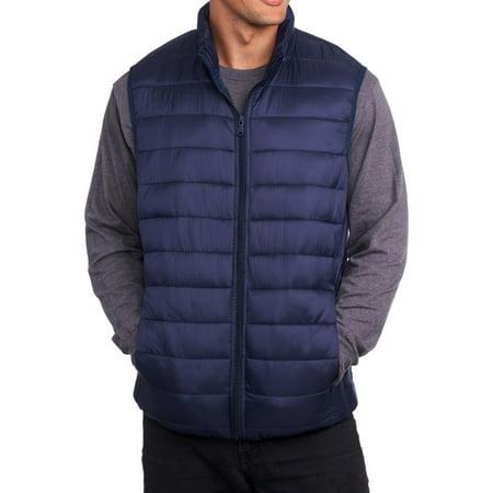 Alpine Swiss Mens Down Alternative Vest Jacket Lightweight Packable Puffer Vest](blanc noir puffer vest)