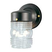 WESTINGHOUSE LIGHTING CORP 75-Watt Black Jelly Jar Wall Fixture 66885
