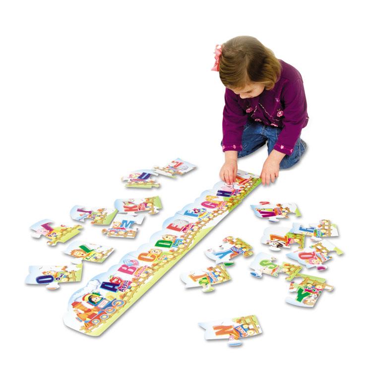 Creativity Street Alphabet Train Floor Puzzle by THE CHENILLE KRAFT COMPANY