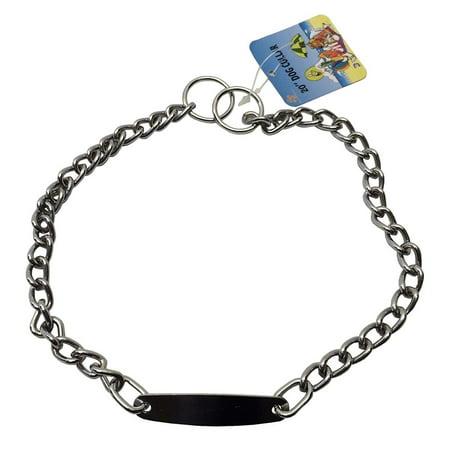 "20"" Choker Chain Dog Collars Dog Training Heavy Duty Collar & Plate by GoodPooch"