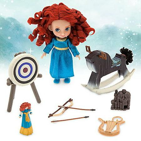 Dolly 5 Inch Chunky Heel - Disney Animators' Collection Merida Mini Doll Play Set - 5 Inch