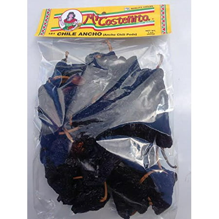 Dried Chile Ancho,Ancho Chili Peppers - Dried Poblano Pepper - Mild to Medium Heat - Sweet & Smoky Flavor 16-Ounce Bag(1 - Dry Chili Peppers
