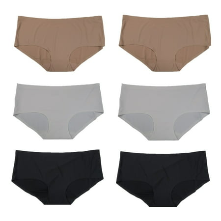 Women's Basic Color Hip Hugger Brief Panties (6 Pack) S