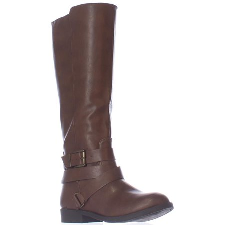 Womens SC35 Lolah Ankle Strap Riding Boots, Cognac